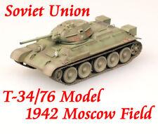Easy Model 1/72 Soviet Union T-34/76 Model 1942 Moscow Field Tanks Model #36264