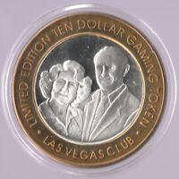 .999 SILVER LIMITED EDITION GAMING TOKEN $10 Las Vegas Club