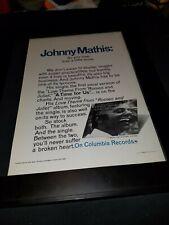 Johnny Mathis A Time For Us Rare Original Promo Poster Ad Framed!