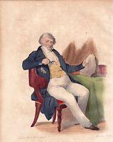 Portrait XIXe Cuvier Georges  Paléontologie Anatomie Comparée 1841