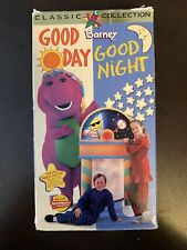 Barney Good Day Good Night VHS VCR Video Tape Movie Used