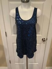 Vivienne Tam Navy Blue Tank Top W/ Sequins, Size Small, NWT!