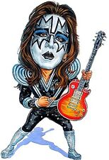 "Kiss-Ace Frehley ""Spaceman"" Caricature 70's-80's Heavy Metal Sticker or Magnet"