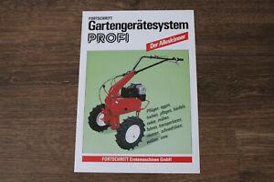 Original DDR VEB Fortschritt Erntemaschinen Gartengerätesystem PROFI Prospekt