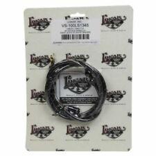 "Lokar VS-100LS1348 48"" Vintage Series Throttle Cable Kit - Black w/White Tracers"