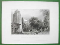 CONSTANTINOPLE Seven Towers Prison - BARTLETT Antique Print Engraving