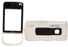 Cover Schale Gehäuse Case Hülle in Weiß - Schwarz für Handy Nokia 6210 Navigator