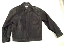 Men's SAVILE ROW Leather Black Suede Jacket Coat Size Medium Nice!!