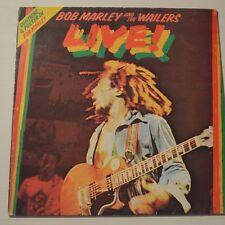 BOB MARLEY - LIVE! - 1975 FIRST PRESS ITALIA LP + POSTER