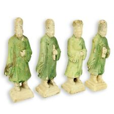 Four (4) Chinese Ming Dynasty (1368-1644 AD) Tomb Pottery Figures