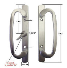 Patio Door Handle Set, Mortise Type, A-Position, Non-Keyed, Brushed Chrome