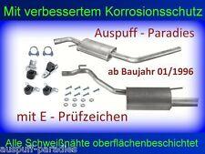 Abgasanlage Auspuff VW T4 Typ 7H 2.0 & 2.5 (Benziner) Bus & Kasten ab 1996 +Kit