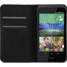 Kunst-Lederhülle für HTC Desire 320 Book-Case weiß + 2 Schutzfolien