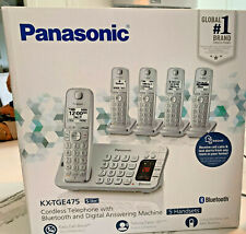 Panasonic Cordless Phone KX-TGE475S Bluetooth, Digital Answering, 5 Handsets