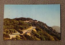 VINTAGE POSTCARD -MOUNT WILSON TELEVISION TRANSMITTERS -Los Angeles, CA