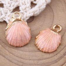 10pc Sea shell Pendant Dangle Charm Enamel DIY Earring Necklace Making #1034