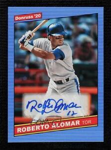 2020 Panini Donruss Retro 1986 Signatures Roberto Alomar #86S-RA Auto HOF