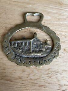 Horse Brass Vintage First & Last Lands End John O Groats UK Great Britain Map