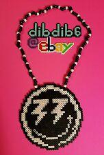 Bingo Players perler kandi necklace, rave, EDC, PLUR hama art bead
