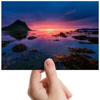"Sunset Coastal Sea - Small Photograph 6"" x 4"" Art Print Photo Nature Gift #14294"