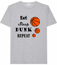 Men's Basketball T-shirt, eat sleep dunk repeat