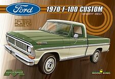 Moebius Model King 1970 Ford F-100 Custom Shortbed Pickup Truck model kit 1/25