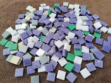LOT 1 kg MOSAIQUE TESSELLES EMAUX DE BRIARE pate de verre violet vert blanc gris