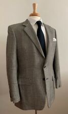 Dunhill Made in Italy Canvassed Black White Glen Plaid Check Cashmere 38 40 NICE