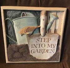 Hallmark Nature's Sketchbook 12�Wall Plaque Step Into My Garden Marjolein Bastin