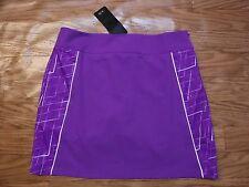 Adidas Clima Cool Vivid Purple/White Golf Built in Shorts Skirt Women 8*NWT* $75