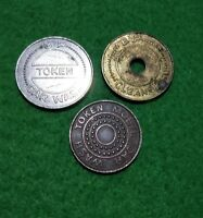 Trio of vintage Mobil & BP petrol station car wash tokens Fully Paid & Discount
