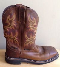 JUSTIN ORIGINAL COWBOY WORKBOOTS STEEL TOE BOOTS, WK4690, MEN'S SIZE 9.5D 9.5 D