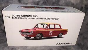 1:18 AUTOart  John Whitmore  Lotus Cortina Mk1 #22 Budapest ETC 1964 BOX ONLY