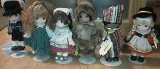 Set of 6 PRECIOUS MOMENTS Dolls Children of the World Africa Ireland Italy Alask