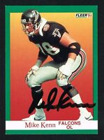 Mike Kenn #206 signed autograph auto 1991 Fleer Football Trading Card