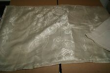 Martha Stewart King Pillow Sham Metallic Gray Green Floral Nwop