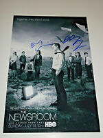 THE NEWSROOM CAST SIGNED X2 AUTOGRAPHED 12X18 PHOTO POSTER MORTIMER GALLAGHER
