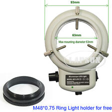 144 LED White Stereo Microscope Ring Light Lamp Illuminator Adjustable Bright AU
