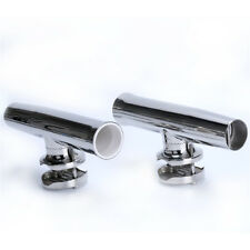 "PAIR! Tournament Style Clamp on Fishing Rod Holder for Rail 1-1/4"" to 2""-AM Hot!"
