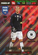 MANUEL NEUER DEUTSCHLAND DEFENSIVE ROCK CARD FIFA 365 2016-2017 PANINI