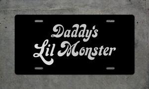 Daddy's Little Monster License Plate, GIRL CUTE JOKER HARLEY QUINN CAR TRUCK