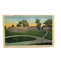 Old Fort Frederick Maryland Linen Vintage Postcard