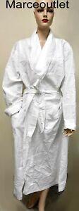 Matouk Seersucker 100% Cotton EXTRA SMALL Bath Robe White