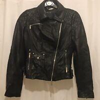 KAREN MILLEN Limited Edition Black Leather Biker Jacket. JR106-A13W. RRP £450