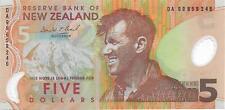 NEW ZEALAND HILLARY 5 DOLLAR Note DA Brash P185a UNC