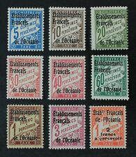 CKStamps: France Stamps Collection French Polynesia Scott#J1-J9 Mint H OG