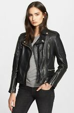 Burberry Brit Mossfield Leather Jacket Ladies Womens UK Size 8