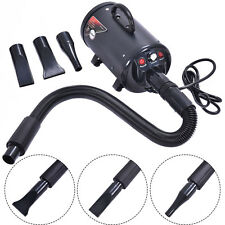 Portable Dog Cat Pet Groomming Blow Hair Dryer Quick Draw Hairdryer W/ Heater