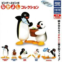 Pingu Penguin Complete Set 5 Figure Collection Donut Flower Tomy Gashapon