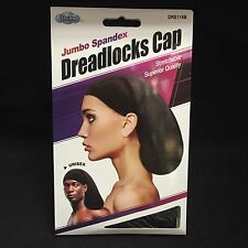 DREAM JUMBO SPANDEX DREADLOCK CAP STRETCHABLE UNISEX BLACK #115B